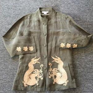 CITRON Santa Monica embroidered jacket dragons L